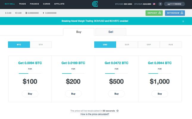 CEX.IO - Buy Bitcoin