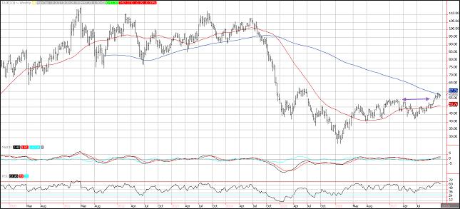 WTI Crude Oil Weekly Chart
