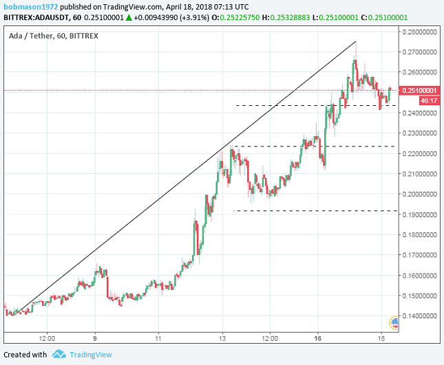 Cardano 1H Chart