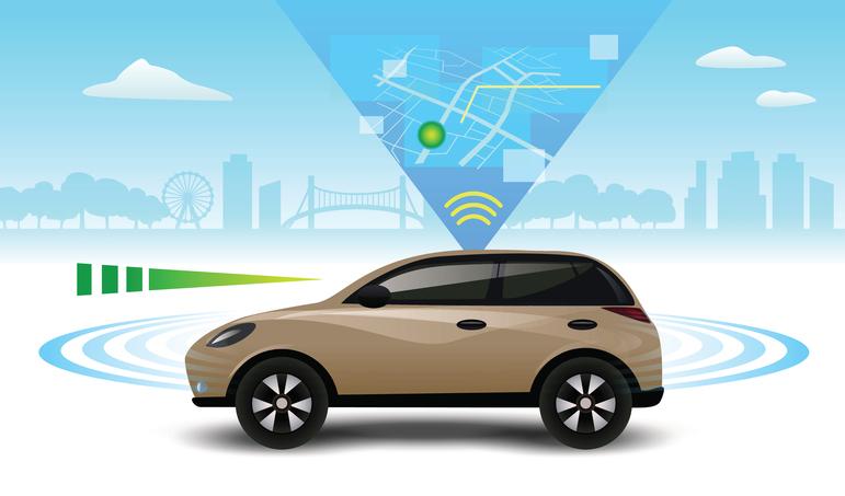 Autonomous self-driving driverless ca