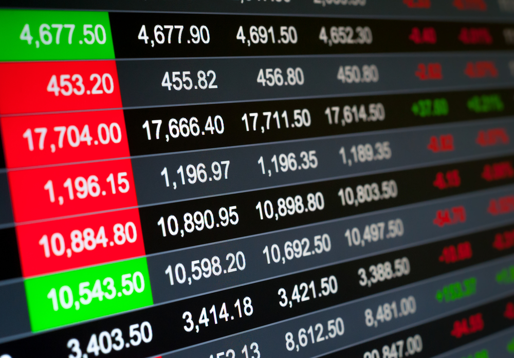Abstract background stock market indices